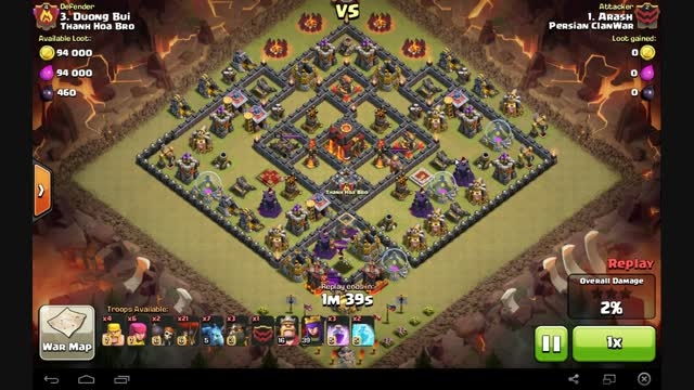 clash of clans 3 star attack town hall 10
