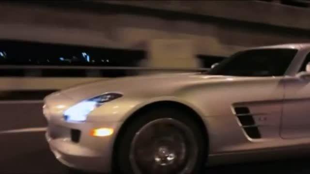 درگ مرسدس بنز SLS AMG با فراری 458
