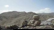 تخریب کانالِ ارتباطی طالبان در دلِ کوه توسط جنگنده های USA