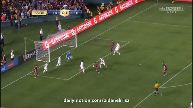 بارسلونا 2 - 0 لس آنجلس گلکسی (گل سرجیو روبرتو)