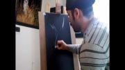 طراحی سریع با مداد سفید مدت انجام پانزده دقیقه