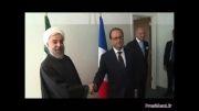 دیدار آقای روحانی با رئیس جمهور فرانسه