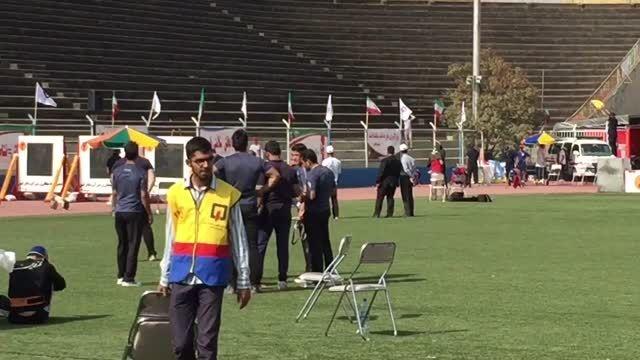 مسابقات عملیاتی ورزشی آتشنشانی با قهرمانی روح اله محمدی