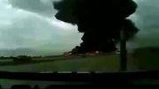 فیلم برداری از لحظه سقوط هواپیما