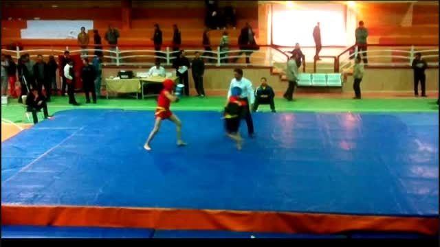 مبارزه علی ستاری در مسابقات كشوری استان قم