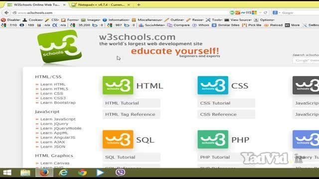آموزش html و css مقدماتی yadvid.ir - جلسه اول