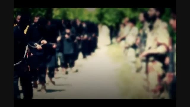 اعدام 13 تروریست داعش بدست تروریستهای جیش الاسلام
