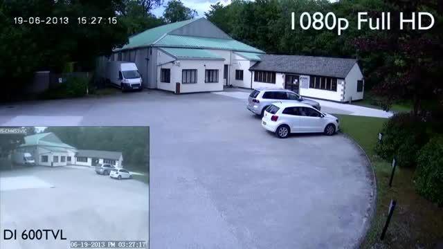 تفاوت کیفیت تصویر دو دوربین مداربسته با رزولشن مختلف
