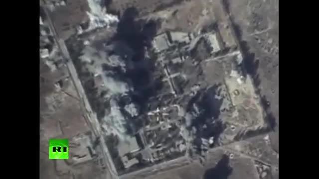 حمله ی نیروی هوایی روسیه به مواضع داعش در سوریه