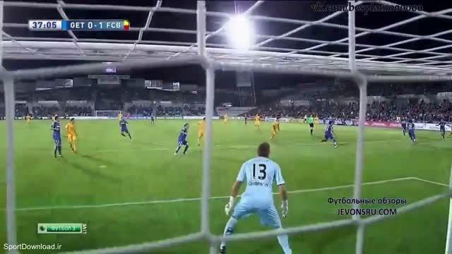 خلاصه بازی بارسلونا 2-0 ختافه