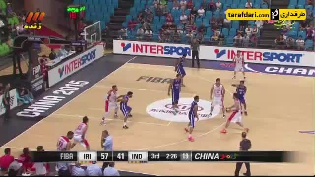 بسکتبال جام ملت های آسیا؛ ایران 88-66 هند