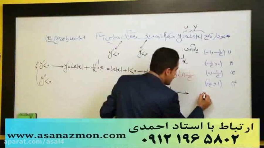 جدیدترین تدریس مهندس مسعودی کنکور (مشتق3) کنکوری 9