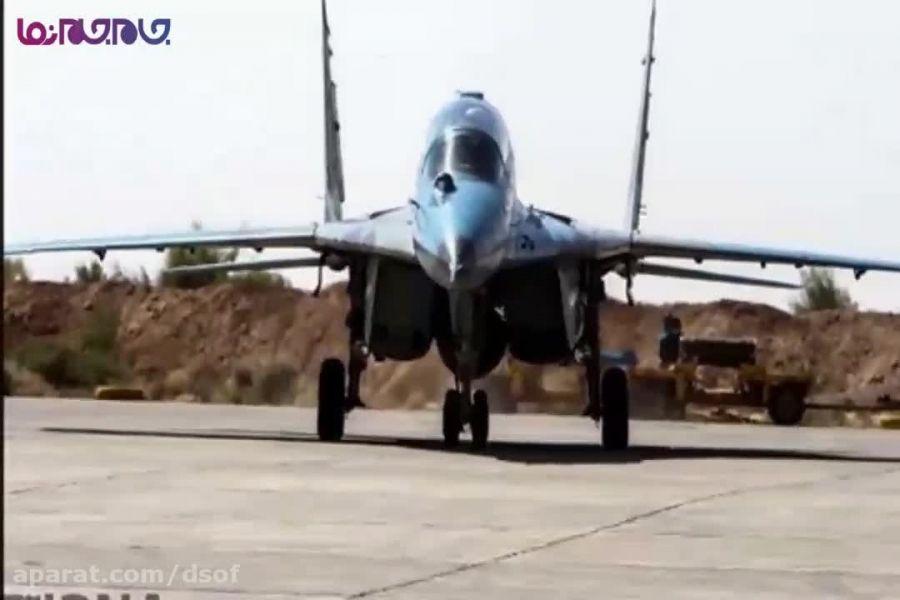 رزمایش باشکوه و نمایش قدرت جنگنده های نیروی هوایی