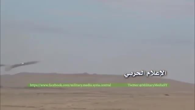 حمله بالگرد های MIL MI 24 ارتش روسیه به داعش در تدمر