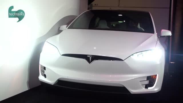 رانندگی آزمایشی با خودروی تسلا مدل اکس (Tesla Model X)