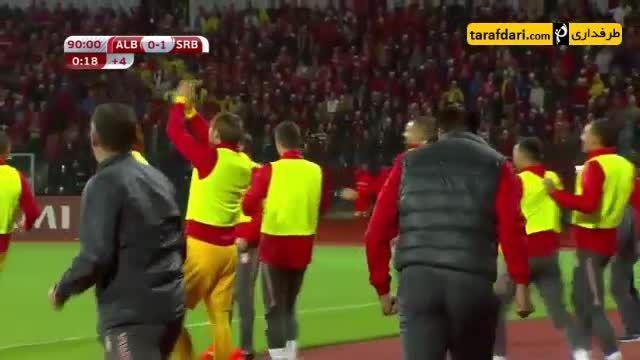 گل های بازی آلبانی 0-2 صربستان