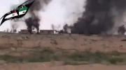 سوریه حمله میگ 29 و میگ 23 ارتش از ارتفاع پائین