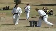 شکستن چوب بیسبال توسط بانوی کیوکوشین کاراته کار