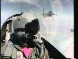 جنگ هوایی-داگفایت تمرینی بین اف 16 و اف 14