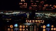 پرواز و فرود بوئینگ در شب مکزیکوسیتی