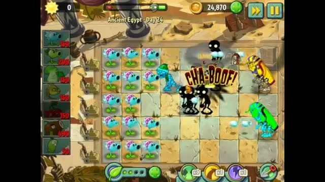 Plant vs zombies 2 every plant new costume