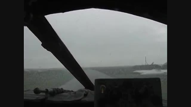 پروازسوخو 24در هوای ابری