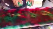 نقاشی گل با اسپری!!
