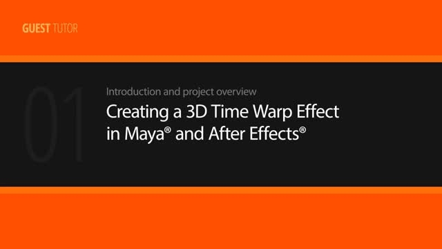 reating a 3D Time Warp Effect in Maya and After Effects