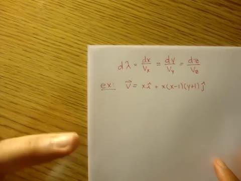 مکانیک سیالات - 07 - معادله خط جریان، مثال 1