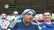 عکس العمل بازیگران در استادیوم بعد از گل مسی