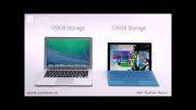 تبلیغ مایکروسافت - مقایسه سرفیس پرو با مک بوک ایر