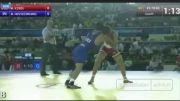 برتری حسین خانی در مسابقات کشتی آزاد قهرمانی جهان