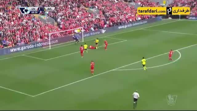 خلاصه بازی لیورپول 3-2 استون ویلا