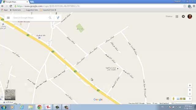 نقشه مسجد در گوگل مپ