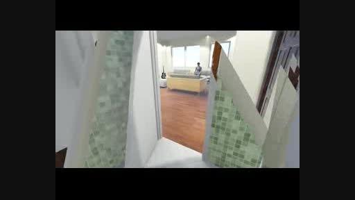 شبیه سازی معماری داخلی آپارتمان