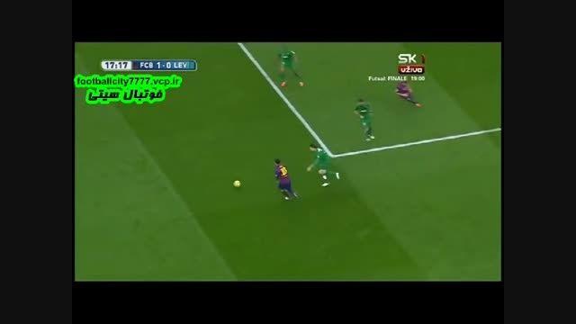 خلاصه بازی بارسلونا 5 - 0 لوانته (لالیگا اسپانیا)