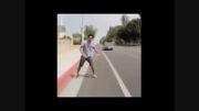 پریدن تو ماشین در حین راه رفتن