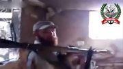 تروریست وهابی اومد تانک رو بزنه خودش رفت رو هوا