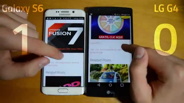 Samsung Galaxy S6 vs LG G4 _Apps Speed Test
