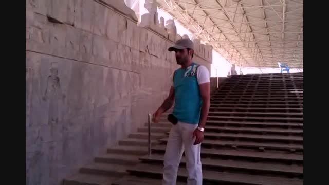 تخت جمشید پارسه پرسپولیس هدیه آوران از سراسر جهان