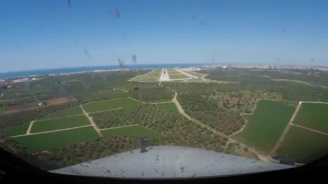 برخورد پرنده در طول فرود هواپیمای باری ✈