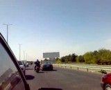 موتور سنگین در اتوبان تهران قم 2