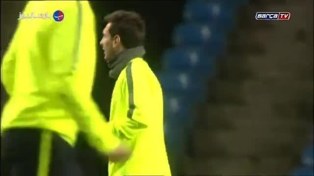 تمرین بارسلونا در استادیوم اتحاد شهر منچستر 02/24/2015