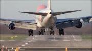 فرود سخت هواپیما بوئینگ 747 و باد عرضی دوسلدورف