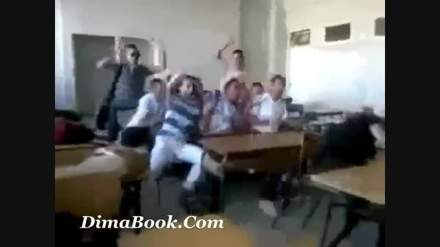 مسخره بازی دانش آموزان سر کلاس مدرسه