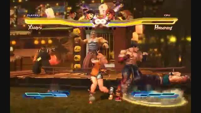 jin and xiaoyu vs heihachi and kuma-street fighter