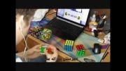 شش مکعب در 6 دقیقه: پسر 19 ساله رکورد حل مکعب روبیک را شکست