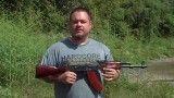 شلیک با اسلحه ی آفتامات کلاشنیکف AKM قهوه ای