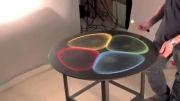 استفاده از شنهای رنگی و ارتعاش میز در کشیدن نقاشی(زیبا)
