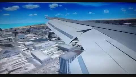 فرود در فرودگاه دبى (شبیه ساز پرواز)